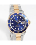 Rolex Submariner 40mm 16613 Yellow Gold & Stainless Steel, Blue Dial on an Oyster Bracelet - Box & Papers