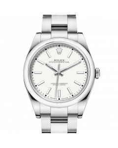 Rolex Oyster Perpetual 114300 39mm Stainless Steel w/ White Dial on an Oyster Bracelet - UNUSED