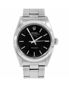 Rolex Airking 34 5500 Stainless Steel, Black Stick Dial, Smooth Bezel On Oyster Bracelet, Men's Pre-Owned Watch