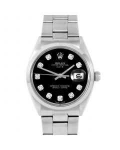Rolex Date 34 mm Stainless Steel 1500-SS-1241-CD