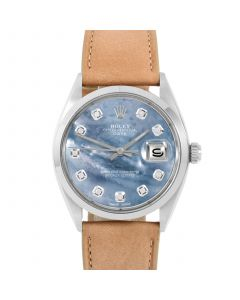 Rolex Date 34 mm Stainless Steel 1500-SS-BL5244F-CD
