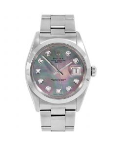 Rolex Date 34 mm Stainless Steel 1500-SS-B5241-CD