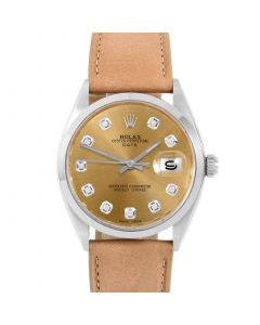 Rolex Date 34 mm Stainless Steel 1500-SS-C244F-CD