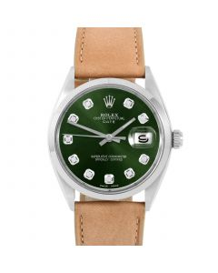 Rolex Date 34 mm Stainless Steel 1500-SS-G244F-CD