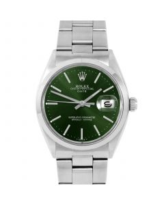 Rolex Date 34 mm Stainless Steel 1500-SS-G441
