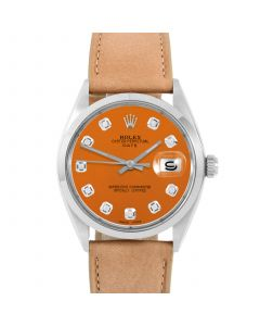 Rolex Date 34 mm Stainless Steel 1500-SS-O244F-CD