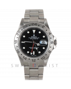 Pre-owned Rolex Mens Explorer II Watch - Stainless Steel Black Swiss Made Dial 16570 40MM 2000s Model