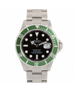 Rolex Submariner Date 16610 LV Engraved 50th Anniversary, Stainless Steel, Black Dial - Pre-Owned watch