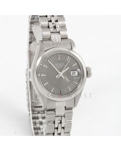 Rolex Datejust 26 mm 6916 Stainless Steel w/ Slate Stick Dial & Smooth Bezel with Jubilee Bracelet - Ladies Pre-Owned Watch