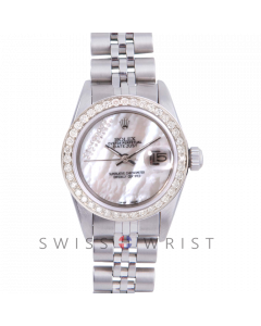 Rolex Datejust 6917 Custom Mother Of Pearl Gift Wrap Diamond Dial - Stainless Steel - Diamond Bezel On A Jubilee Band - Pre-Owned
