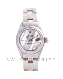 Rolex Datejust 6917 Custom Mother Of Pearl Gift Wrap Diamond Dial - Stainless Steel - Stainless Steel Smooth Bezel On An Oyster Band - Pre-Owned