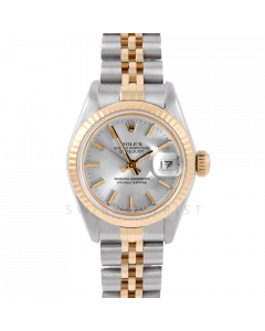 Rolex Datejust 26 6917 Yellow Gold & Stainless Stainless Steel, Silver Stick, Fluted Bezel On A Jubilee Bracelet - Ladies Pre-Owned Watch