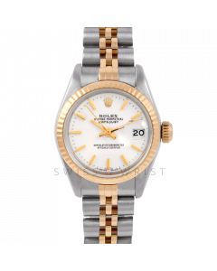 Rolex Datejust 26 6917 Yellow Gold & Stainless Stainless Steel, White Stick, Fluted Bezel On A Jubilee Bracelet - Ladies Pre-Owned Watch